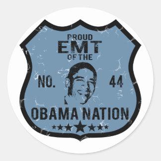 EMT Obama Nation Classic Round Sticker