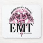 EMT Pink Caduceus Mouse Pads