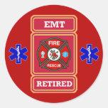 EMT Retired Maltese Cross Shield Sticker