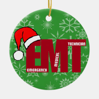 EMT SANTA CHRISTMAS ORNAMENT EMERGENCY MED TECH
