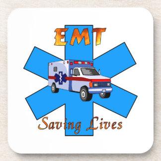 EMT Saving Lives Beverage Coaster