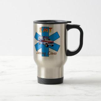 EMT Saving Lives Stainless Steel Travel Mug