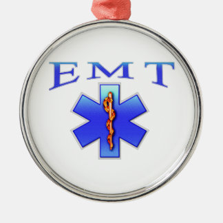 EMT Silver-Colored ROUND DECORATION