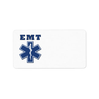 EMT Star of Life Address Label
