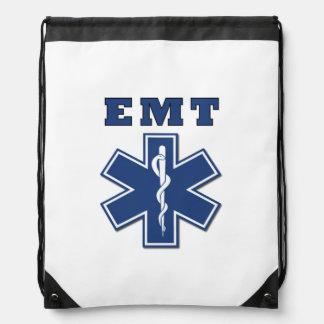 EMT Star of Life Drawstring Backpack