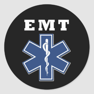 EMT Star of Life Classic Round Sticker