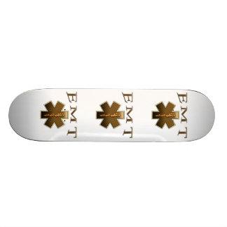EMT - Star of Life in Brown Custom Skateboard