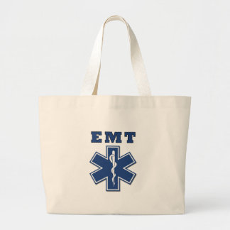 EMT Star of Life Large Tote Bag