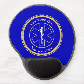 EMT Star of Life Rope Shield Universal Gel Mouse Pad