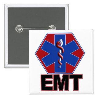 EMT STAR OF LIFE SYMBOL - EMERGENCY MEDICAL TECH 15 CM SQUARE BADGE