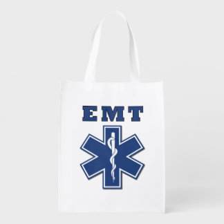 EMT Star of Life Reusable Grocery Bags
