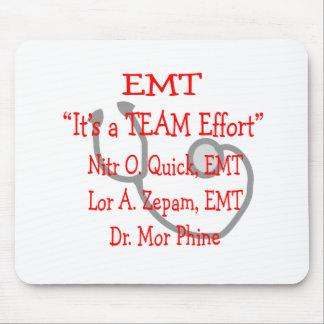 """EMT """"Team Effort""""  Hilarious Mouse Pad"""