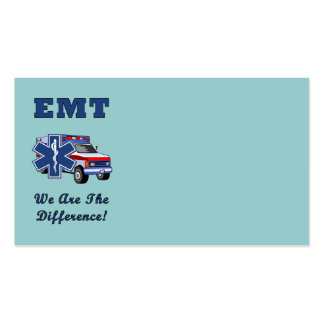 EMT We Are The Difference Business Card Templates