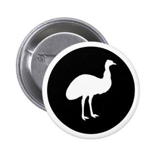 Emu 6 Cm Round Badge