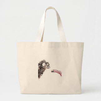 Emu and Worm Large Tote Bag