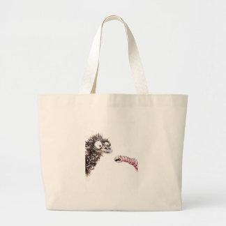 Emu and Worm Canvas Bag