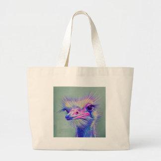 Emu bird large tote bag