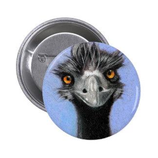 EMU: COLOR PENCIL ART: REALISM 6 CM ROUND BADGE