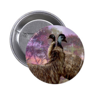 Emu Dreaming 6 Cm Round Badge