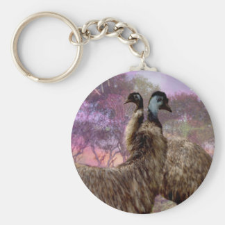 Emu Dreaming Basic Round Button Key Ring