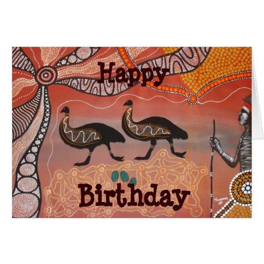 Emu Dreaming Birthday Card