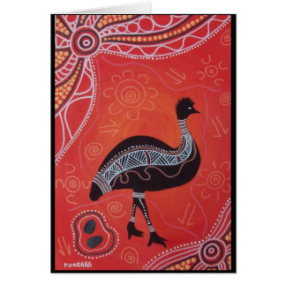Emu Dreaming Card with Dreamtime Story