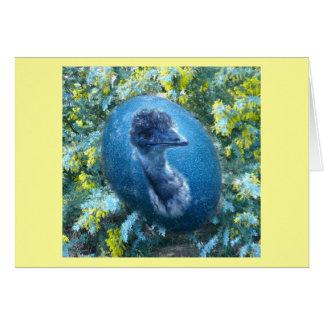 Emu Egg,  Wildlife Card
