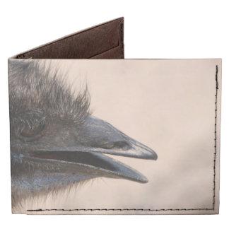 Emu Face Billfold Wallet