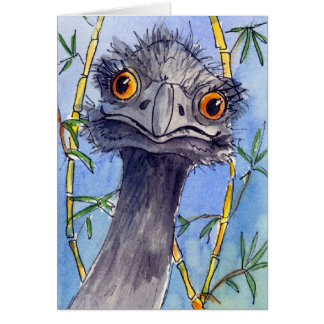 Emu greeting card, just for the fun of it. greeting card