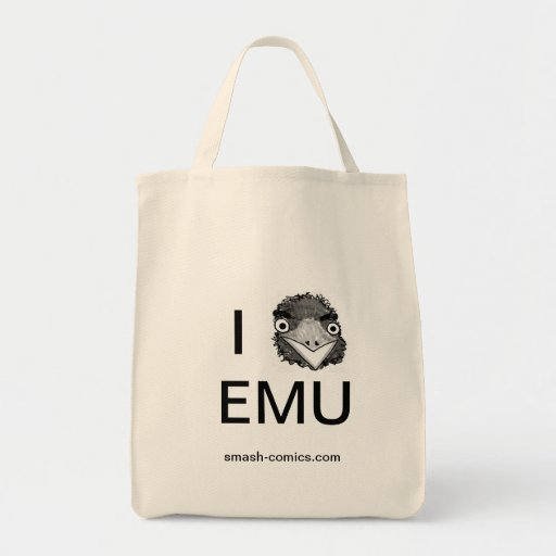 Emu grocery tote bags