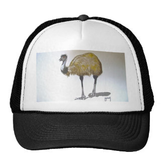Emu in Watercolour Cap