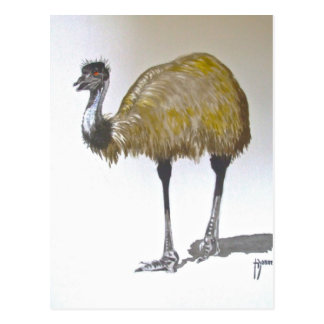 Emu in Watercolour Post Card
