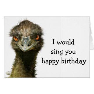 Emu No Songbird Birthday Card