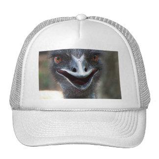 Emu saying HI! Open beak big brown eyes picture Mesh Hat