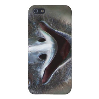 Emu saying HI! Open beak big brown eyes picture iPhone 5/5S Cover