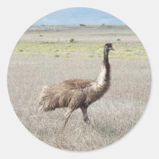 emu stride classic round sticker