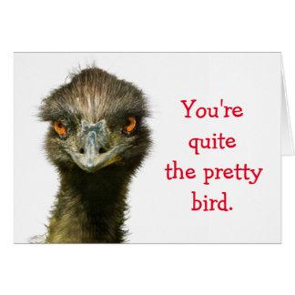 Emu Valentine Poem Note Card