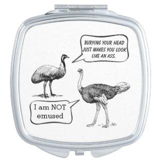 Emu Vs Ostrich Vanity Mirrors