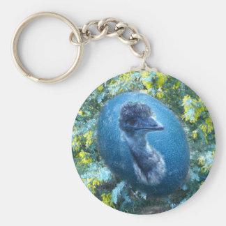 Emu  Wildlife Basic Round Button Key Ring