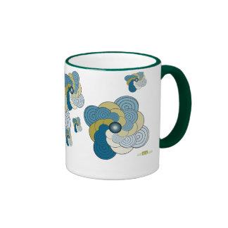 En Espiral azul dorado Mod. 2. Mug