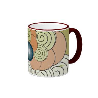 En Espiral verde teja Mod. 1. Mug