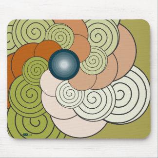 En Espiral verde teja Mousepad