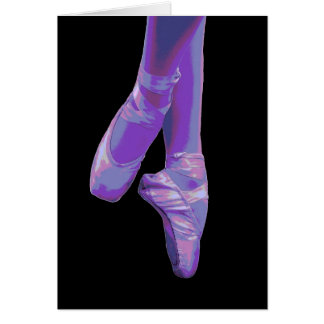 En Pointe Purple- Blank Note Card