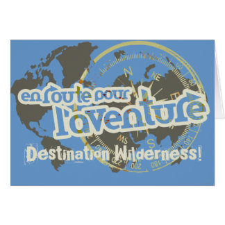 en route pour l'aventure farwell vacation card greeting card