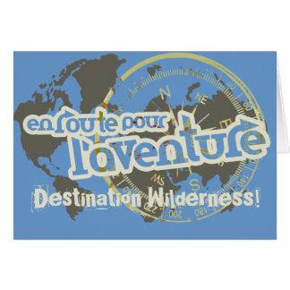 en route pour l'aventure farwell vacation card