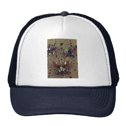 Enamel brooches hats
