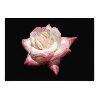 """Enameled"" effect pastels rose 9 Cm X 13 Cm Invitation Card"