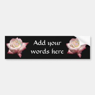 """Enameled"" effect pastels rose Bumper Sticker"