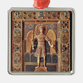 Enamelled plaque depicting the Archangel Michael Christmas Ornament