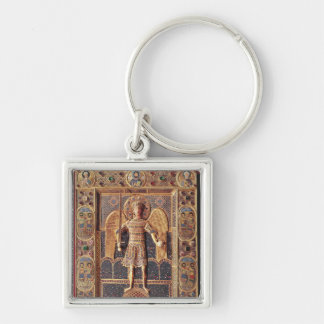 Enamelled plaque depicting the Archangel Michael Key Ring